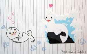 Seel/Dewgong Stickers and Magnets