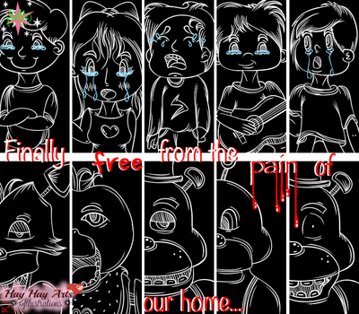 |FNaF Fanart| Pain makes you do things... by TheElementOfMagic