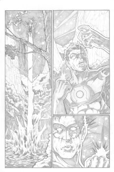 Green Lantern Page 4 by anthonymarques