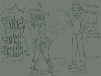 {SKETCH} I'm A Dude! by bunnylove2