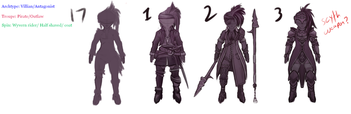 Female Character concept Experimenting with Design by DragonLoreStudios