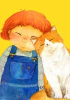 Me and my cat by funkyatelier