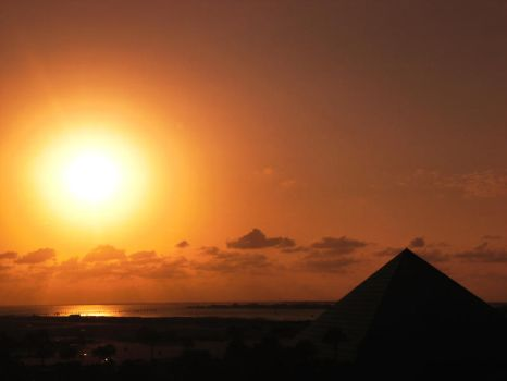 Sunset Over Moody Gardens by ErinM2000