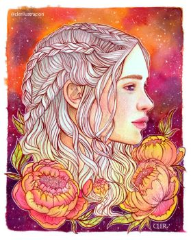 Mother of dragons by CLER by clararuiz91