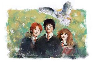 The Trio commission by Michelle-Winer