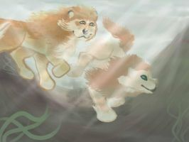 Diving 03- Miracle and Honey Bee by magikwolf