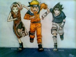 Naruto Team 7 by Heba-chan