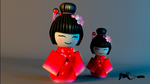 KOKESHI DOLL EN BLENDER by PatriciaCG