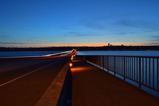I-90 Bridge Lights by TheBelfig