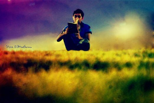 Immersed in His Own World by Usra
