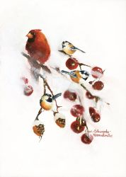 Winterland Birds by ElviArt