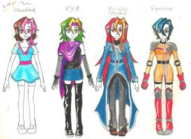 (EDIT) Shise's counterparts [YGO!Arc-V OC] by Yuko-Tsukechi