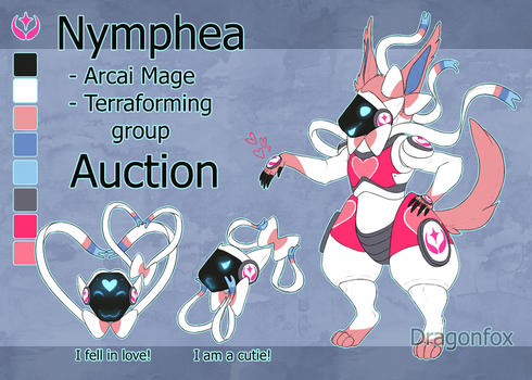 SALE Adopt AUCTION Protogen Nymphea Closed!! by DragonFoxAdopts