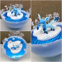 PBT Collage - Glaceon Ice Island by TheVintageRealm