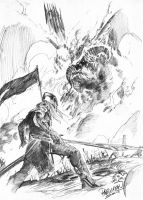 Feanor and Gothmog by guisadong-gulay