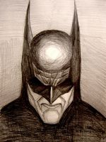 Batman (pensive) by myconius