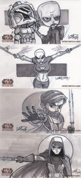 C W Widevision Sketchcards 1 by lordmesa