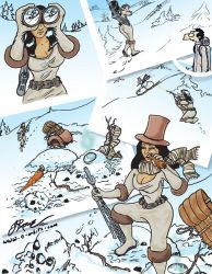 Snowman Huntress by Quirx