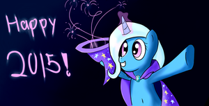 Happy 2015 from Trixie! by WhoovesPON3