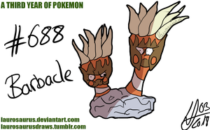 A third year of pokemon: #688 Barbacle
