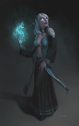 Commission-Highborne Arcanist by nozomi-M