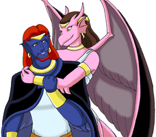 New Olympus Gargoyles. by Noble-Maiden