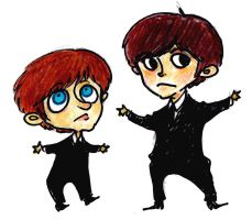 GEORGE AND RINGO by rompopita