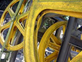 yellow wheels by v-collins