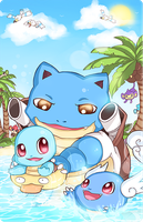 Pokefamily Vacation : Squirtle by DarienDoodles