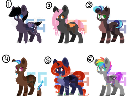 Pony Adopts |1-6| -CLOSED- by GeneralGratitude