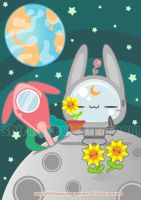 Flowers on the moon by Cukismo