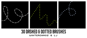 Dashed + dotted line brushes by WinterChaos