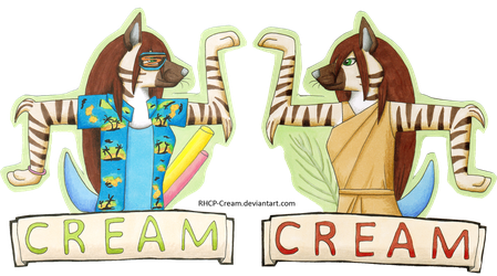 Cream Badge - EF 23 by RHCP-Cream