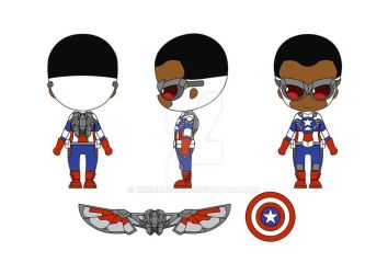 Nendoroid Sam Wilson as Captain America Design by KururuLabo