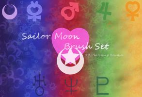 Sailor Moon Photoshop Brush Set by NelaNequin