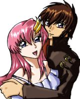 Kira and Lacus by GuardianKnight5