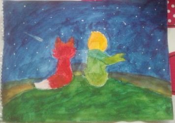Little Prince and Fox (WaterColor) by XimmishyXY