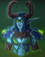 Character Portrait | Nelf Demon Hunter by TaraOBerry