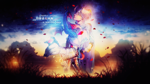 [Wallpaper] Dragon  Knight Boy by XxAjisai-GraphicxX