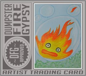 Mymylle Calcifer - Gift ACEO by dumpsterfiregypsy
