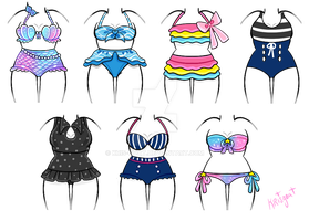 OPEN | Outfit Adopts | Bathing Suits by Kris-Goat