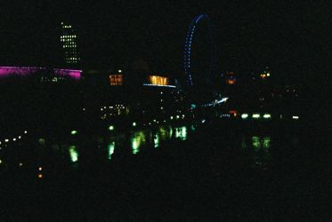 The South Bank - Night Time by willmeister42