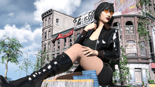 [DAZ] Sitting in the Sun by solidsunny