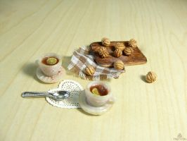 1:12 miniature tea time by Tristatin