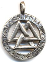 Valknut with Rune Ring by dragonscalearts