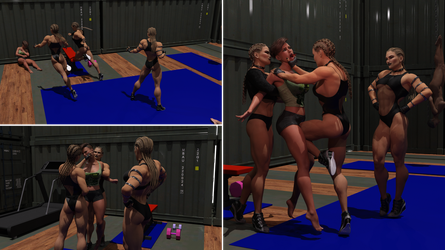 Caged Fighters 07 - 3 to one Contact by Annakonder