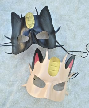 Meowth Masks by kimsmasks