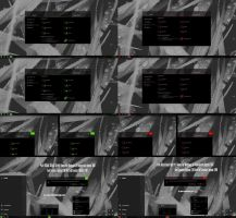 Pure Black Glass Green and Red v2 Theme Windows 10 by Cleodesktop