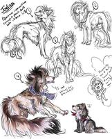Daexmos commission concept sketches by SiriuslyLupine03