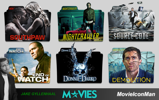 Jake Gyllenhaal Movies Folder Icon Pack by MovieIconMan